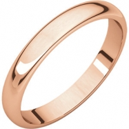 Picture of 14kt Rose 03.00 mm Half Round Band