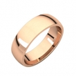 14kt Rose 06.00 mm Light Comfort Fit Band