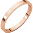 14kt Rose 02.00 mm Flat Band