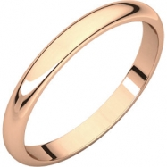 Picture of 14kt Rose 02.50 mm Half Round Band