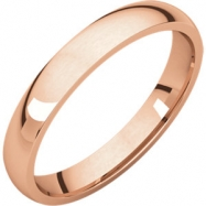 Picture of 14kt Rose 03.00 mm Light Comfort Fit Band