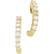 14kt Yellow Complete with Stone Pair 1CTW Diamond Earring