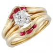 14KY 02.50MM P BRIDAL RING GUARD GENUINE RUBY