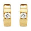 14kt Yellow Pair 1/2 CTW Diamond Hinged Earring