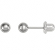 04.00 MM Polished TITANIUM BALL PIERCING EARRING