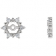 14kt Yellow PAIR 1/4 CT TW Polished DIAMOND EARRING JACKET