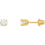 Picture of YP EARRING P SOLITAIRE CUBIC ZIRCONIA PIE