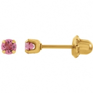 Picture of YP OCTOBER 03.00 MM P SOLITAIRE BIRTHSTONE EARRING