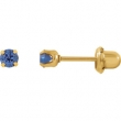 YP SEPTEMBER 03.00 MM P SOLITAIRE BIRTHSTONE EARRING