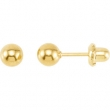 Yellow Plated 05.00 MM Polished INVERNESS BALL EARRING