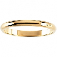 Picture of 14kt Rose 02.00 mm Half Round Band