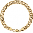 14kt Yellow 7.75 INCH Polished SOLID LARGE CHARM BRACELET