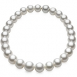 WHITE ROUND GRADUATED 12.00-15.00 MM FINE/FASHION STRAND PASPALEY SOUTH SEA