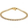 14kt Yellow 2 1/8 CT TW Polished DIAMOND BRACELET