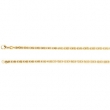 14kt Yellow 7 INCH Polished SOLID BYZANTINE CHAIN