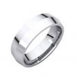 14kt White 06.00 mm Knife Edge Comfort Fit Band