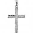 14kt White 30.00X20.00 MM Polished CROSS PENDANT