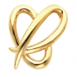14kt Yellow 26.00X22.00 MM Polished HEART CHAIN SLIDE