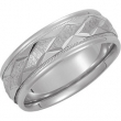14kt White Band 10.50 NONE Complete No Setting Polished DUO BAND