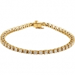 14kt Yellow 4 1/2 CT TW/ 7 1/4 INCH Polished DIAMOND BRACELET