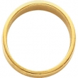 14kt White 05.00 mm Flat Tapered Band