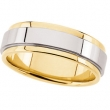 14KY_14KW_14KY SIZE 10 P TWO TONE DESIGN BAND