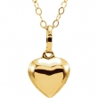 14kt Yellow Pendant Complete No Setting 06.50X07.50 MM Polished YOUTH PUFFED HEART PENDANT