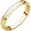 14kt Yellow 03.00 mm Half Round Edge Band