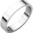10kt White 04.00 mm Flat Band