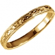 14kt Yellow 7 Hand Engraved Band