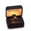 BLACK RING BOX LEATHERETTE LIGHTED RING BOX