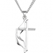 Sterling Silver 30.00X17.50 MM Polished METHODIST CROSS PENDANT