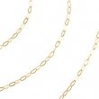 14kt Yellow BULK BY INCH Polished SOLID CABLE CHAIN