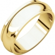 14kt Yellow 06.00 mm Half Round Edge Band