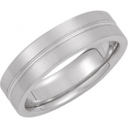 Picture of 14kt White Band 10.00 06.00 MM Complete No Setting Polished DESIGN BAND
