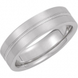 14kt White Band 10.00 06.00 MM Complete No Setting Polished DESIGN BAND