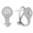 Bezel Diamond Earrings White Gold