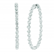 Picture of 15 Pointer diamond hoop earrings