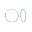 20 pointer diamond hoop earrings