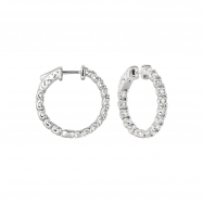 Picture of 10 Pointer hoop earrings/patented snap lock