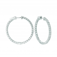 Picture of 5 Pointer hoop earrings/patented snap lock