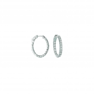 Picture of 10 Pointer oval hoop earrings