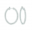 7 Pointer oval hoop earrings