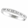 Antique Style Diamond Bangle  14K White Gold