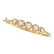 Designer Diamond Bangle Yellow Gold