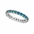 Blue diamond eternity band