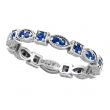 Blue Sapphire Eternity Stack Band Ring