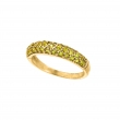 Yellow sapphire pave stack ring
