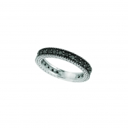 Picture of Black Diamond Eternity Ring 14K White Gold