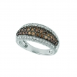 Champagne & white diamond pave ring
